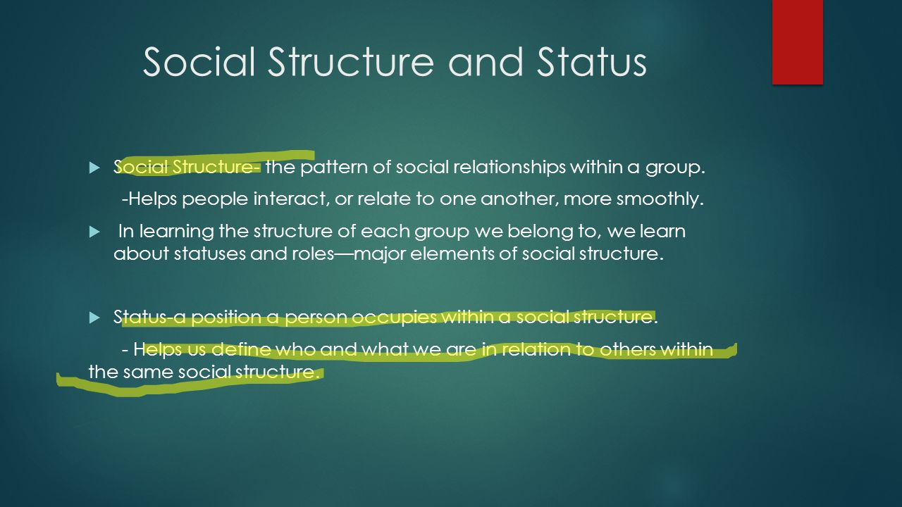 What is social status