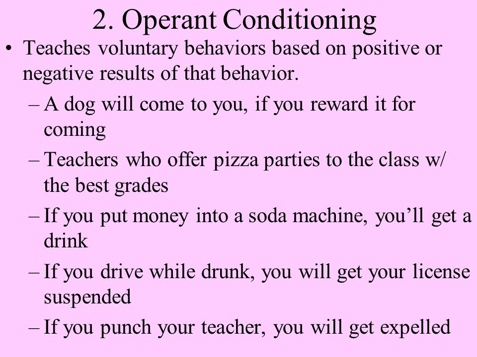 teaching operant conditioning