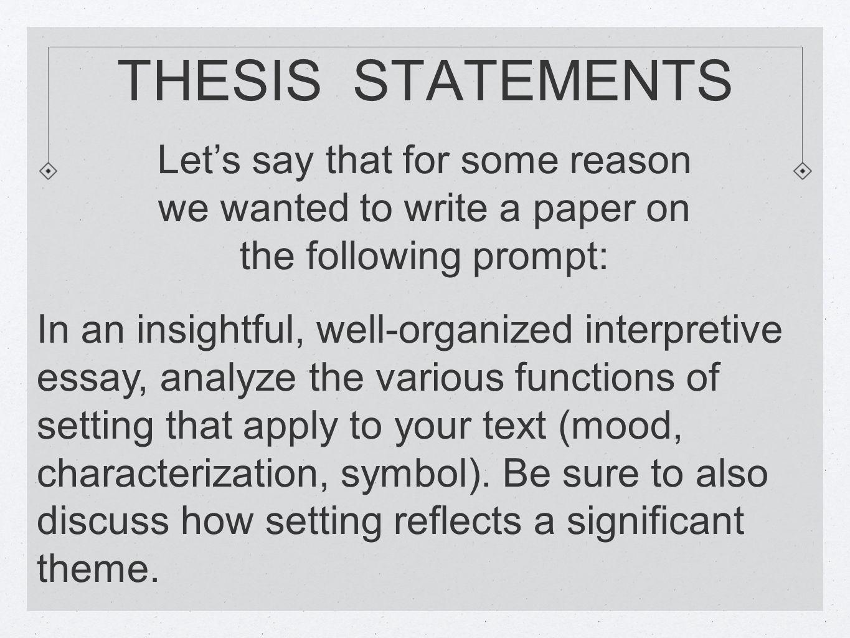 interpretive thesis