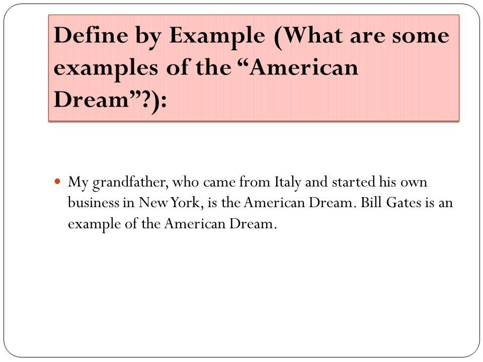 american dream examples