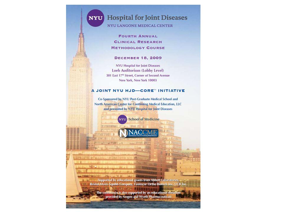 NYU Hospital for Joint Diseases NYU Langone Medical Center Fourth