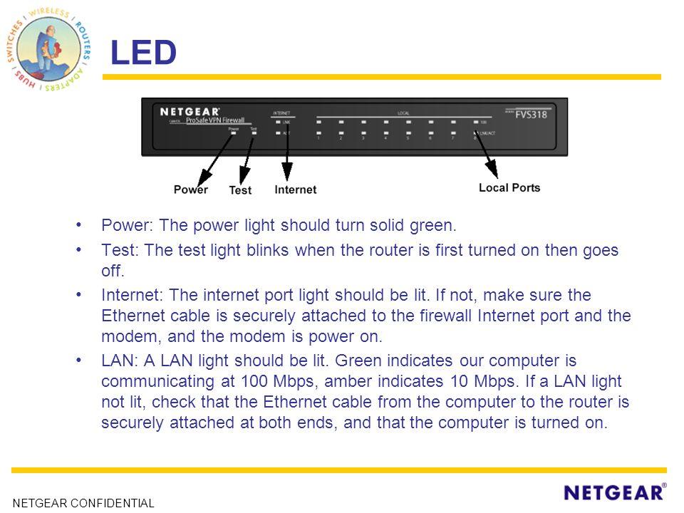 NETGEAR CONFIDENTIAL FVS318v3 Cable/DSL ProSafe VPN Firewall