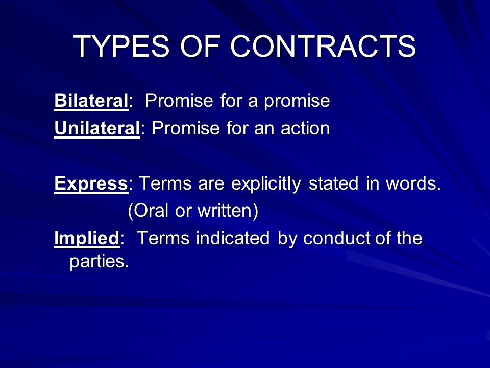 Contracts Chapter 9 Introduction To Contracts Contracts A Agreement