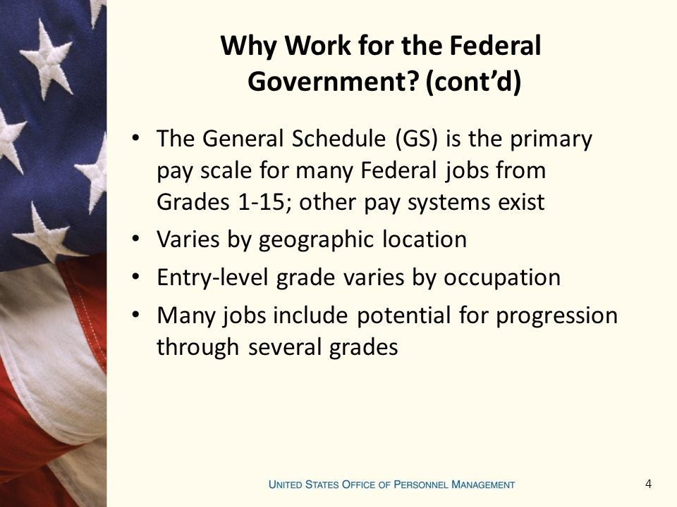 Why Work for the Federal Government.