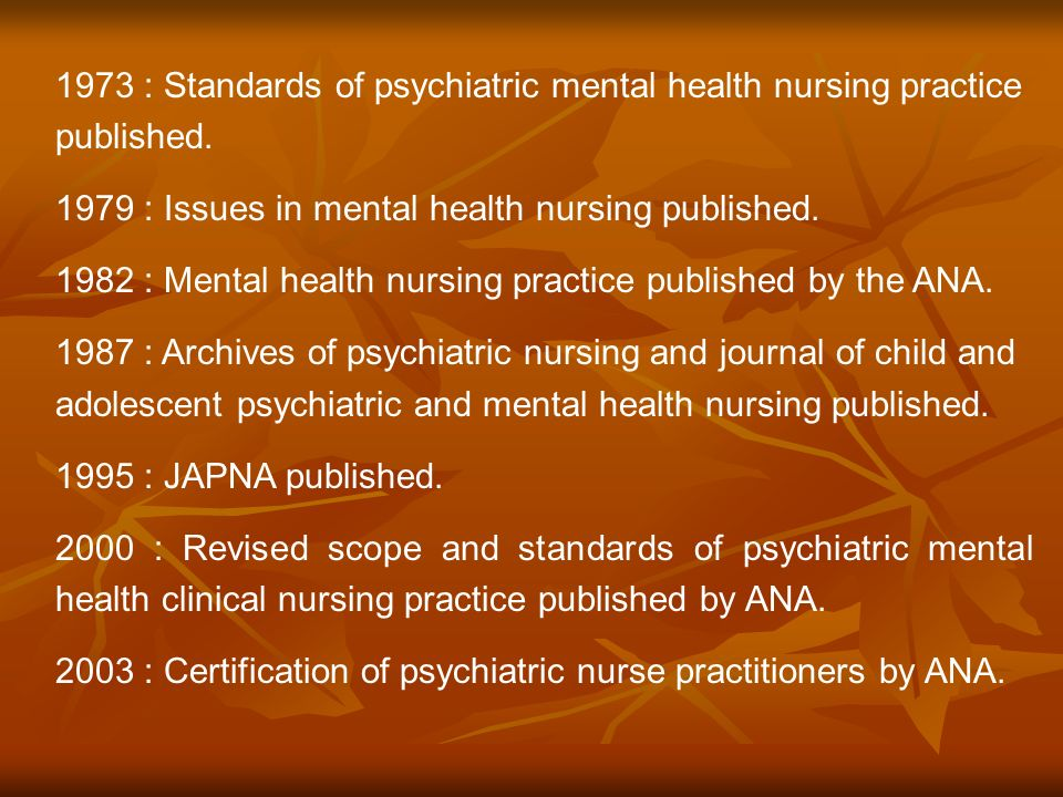 Early History And Evolution Of Psychiatric Nursing Ms Jasna T