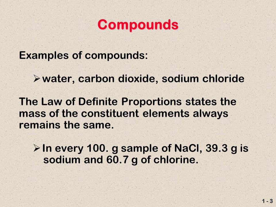 1 - 1 Substances A pure substance is an element or a compound ...