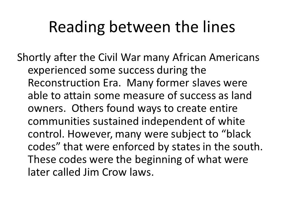 what was one of the successes of the reconstruction era