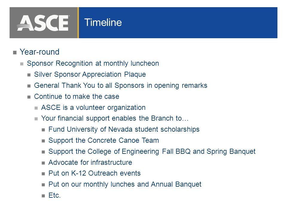 fundraising and sponsorship opportunities mike wilhelm p e m asce