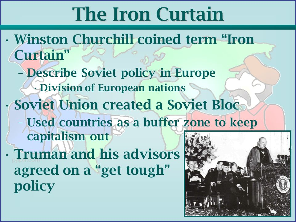 who coined the iron curtain