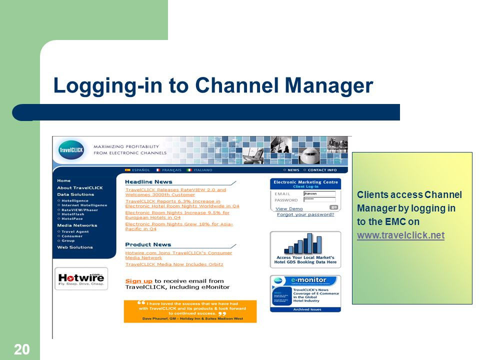 Channelmanager Training March Overview Of The Products Vision