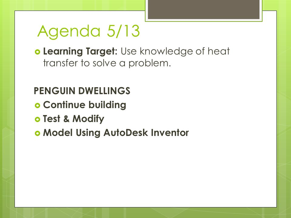 Stem Agenda Week 36 513517 513 Learning Target Use. Agenda 513 Learning Target Use Knowledge Of Heat Transfer To Solve A. Worksheet. Penguin Heat Transfer Worksheet At Mspartners.co