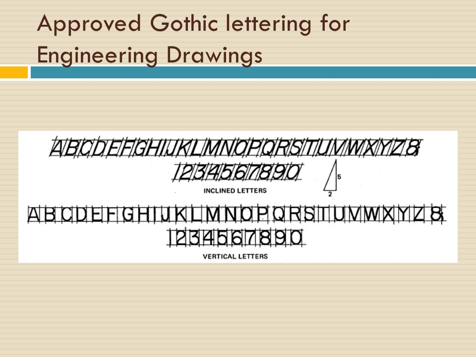 3 Approved Gothic lettering ...
