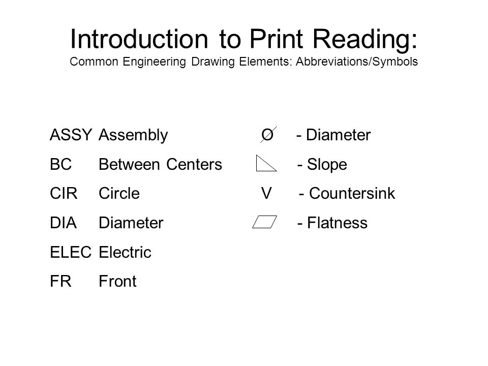 Yes Program Introduction To Print Reading Module Time 2 Hours York