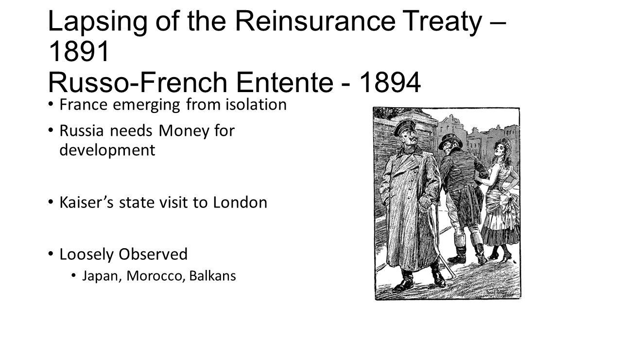Alliances Of Wwi Agenda Triple Alliance Reinsurance Treaty Russo