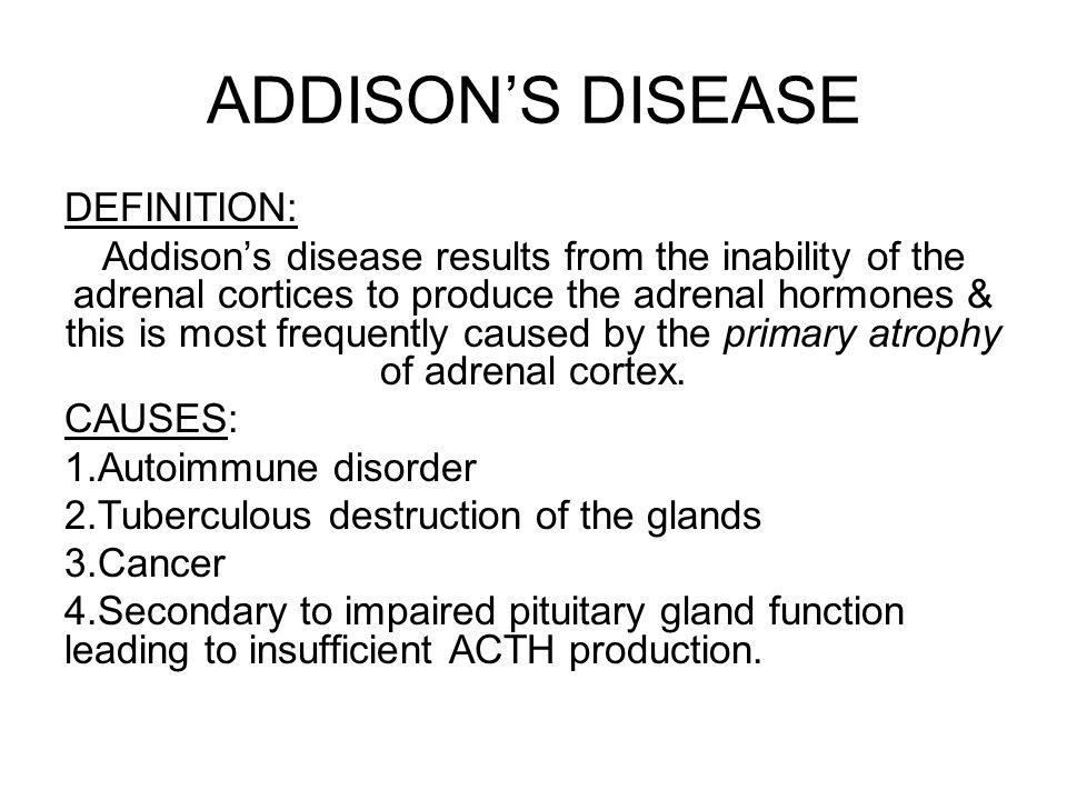 DISORDERS OF THE ADRENOCORTICAL HORMONES Dr  Ayisha Qureshi