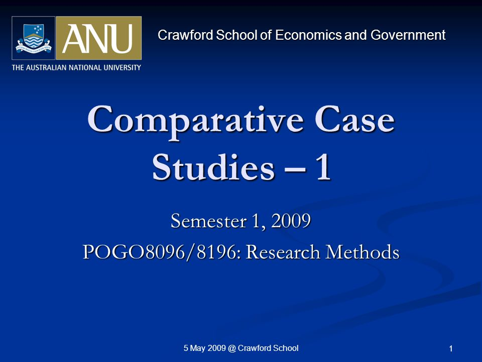 comparative case studies