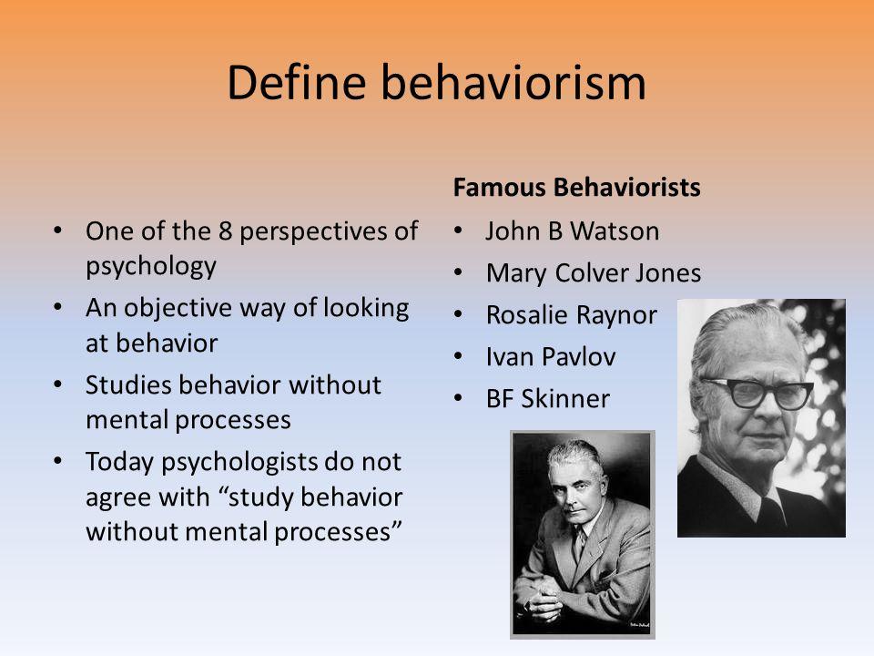 famous behaviorists