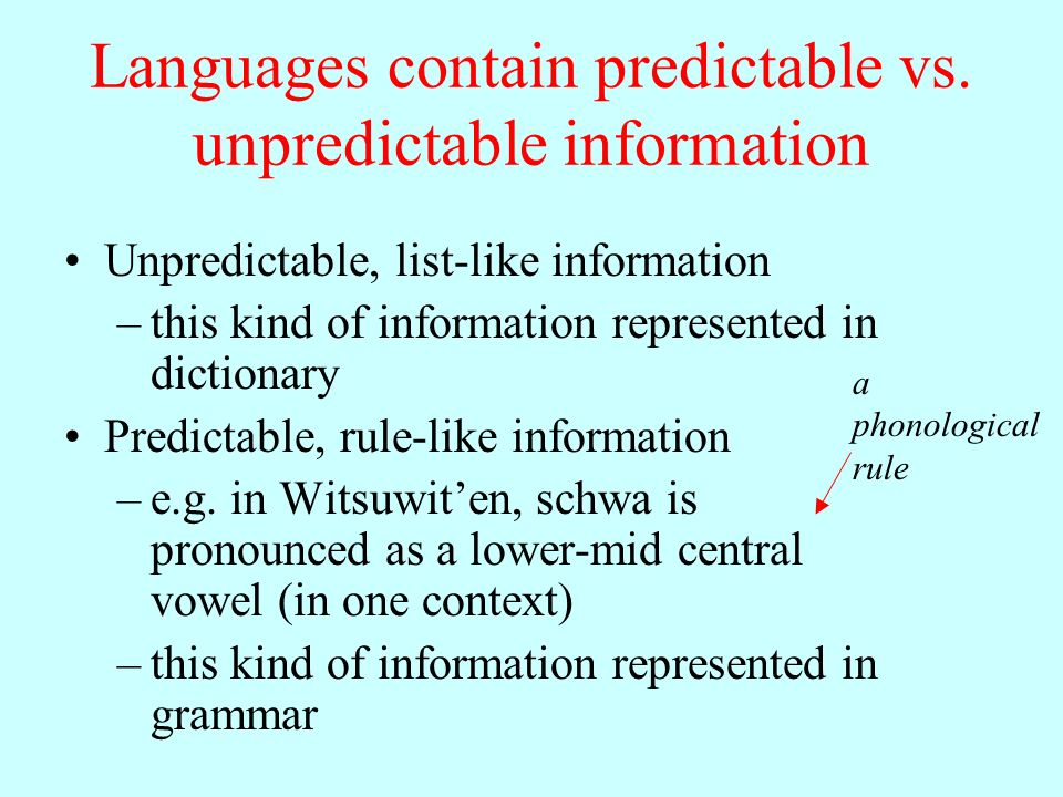 Witsuwit'en phonetics and phonology LING 200 Spring ppt download