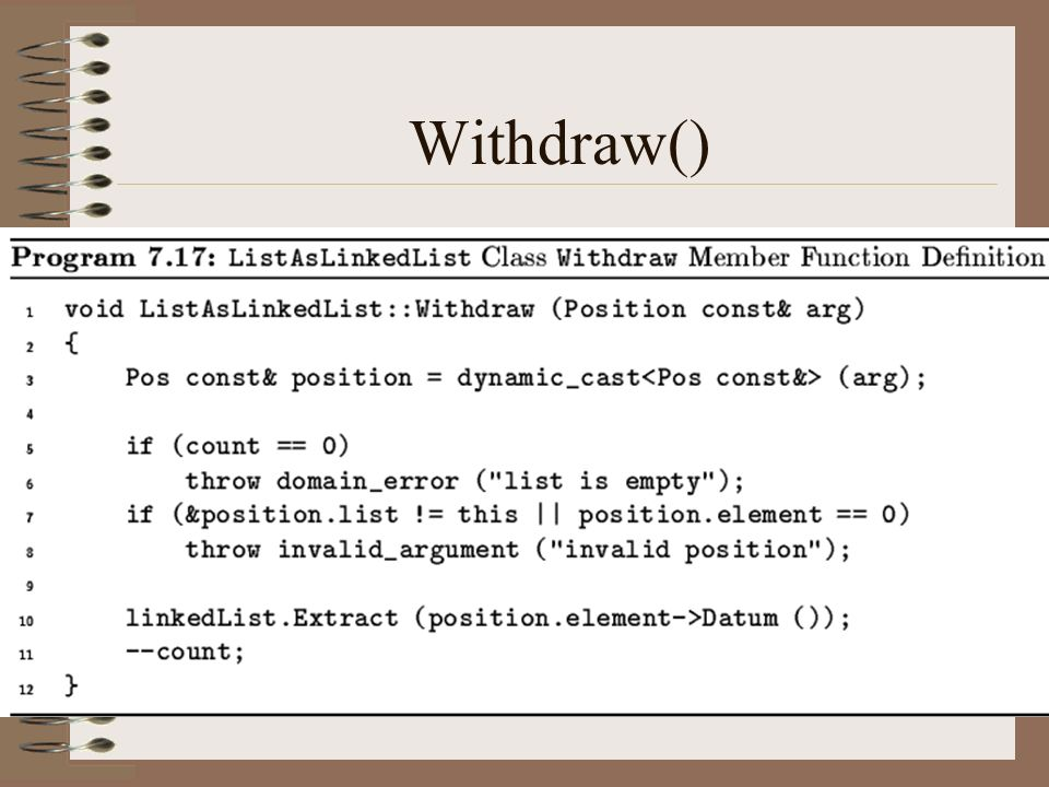 Withdraw()