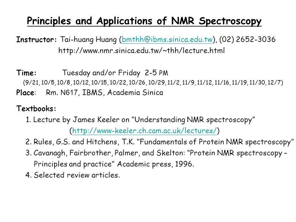 principle of nmr spectroscopy ppt