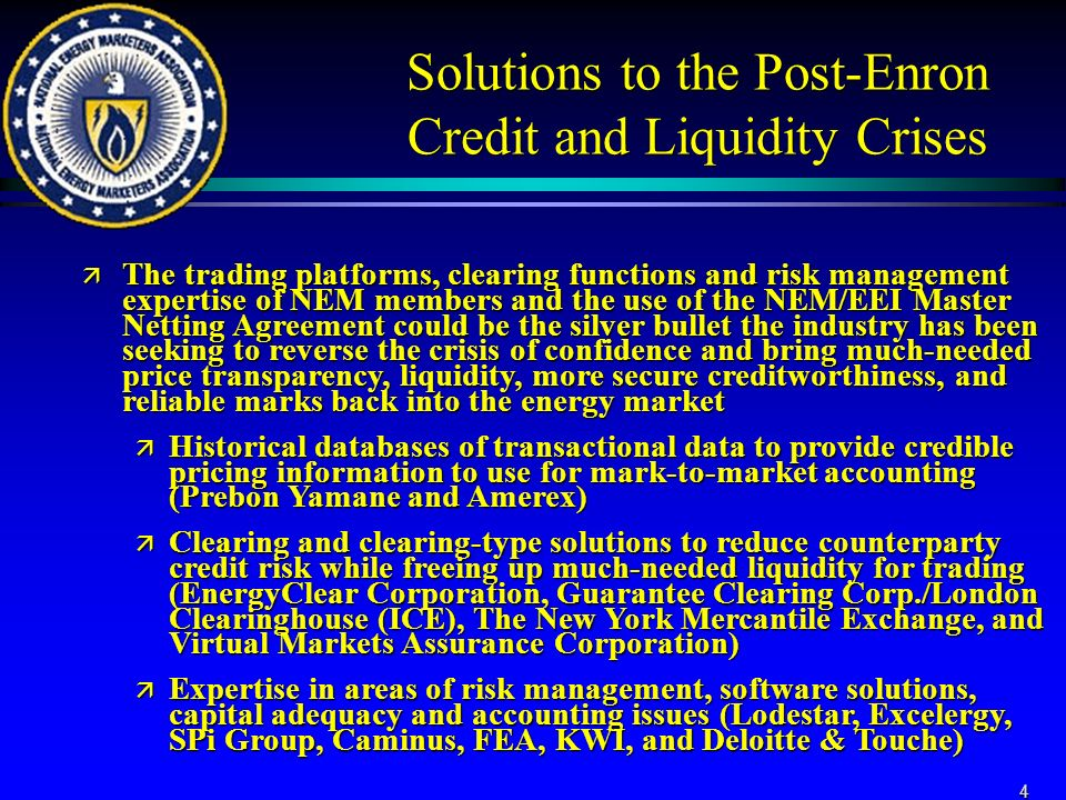 Solutions To Improve The Liquidity And Creditworthiness Of The Us