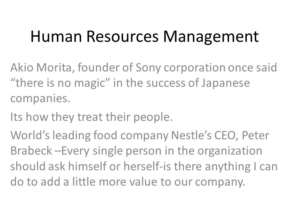 sony human resources