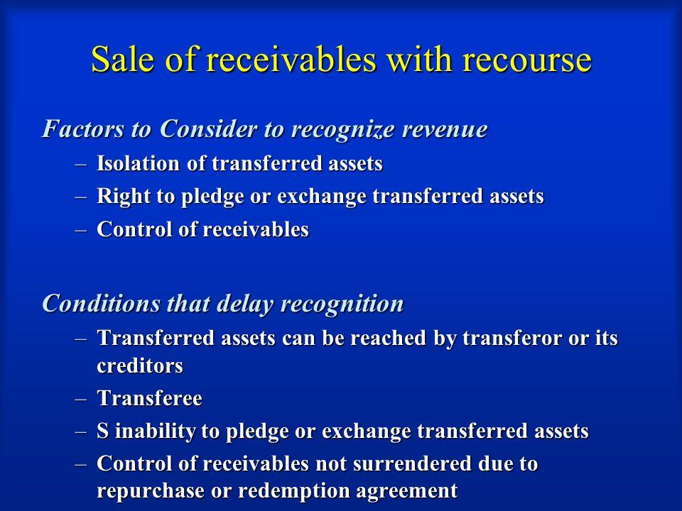 revenue recognition process