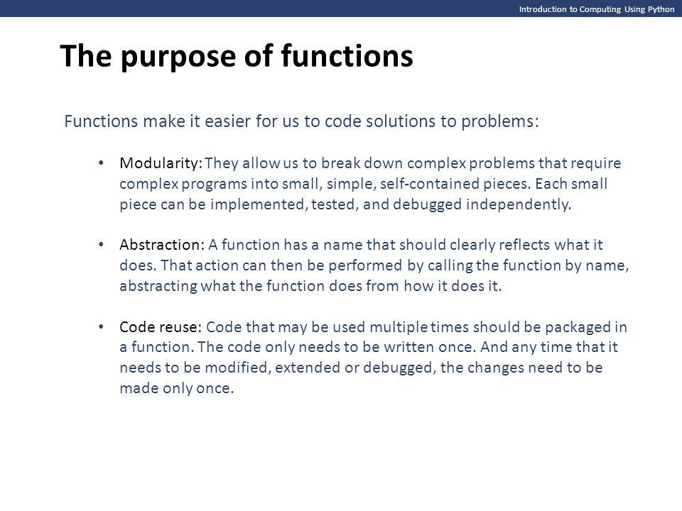 Introduction To Computing Using Python Namespaces Local And Global