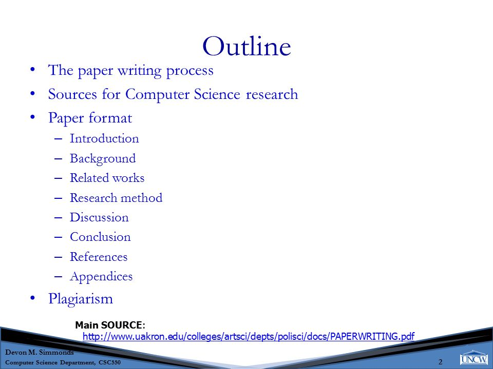 published research paper designs