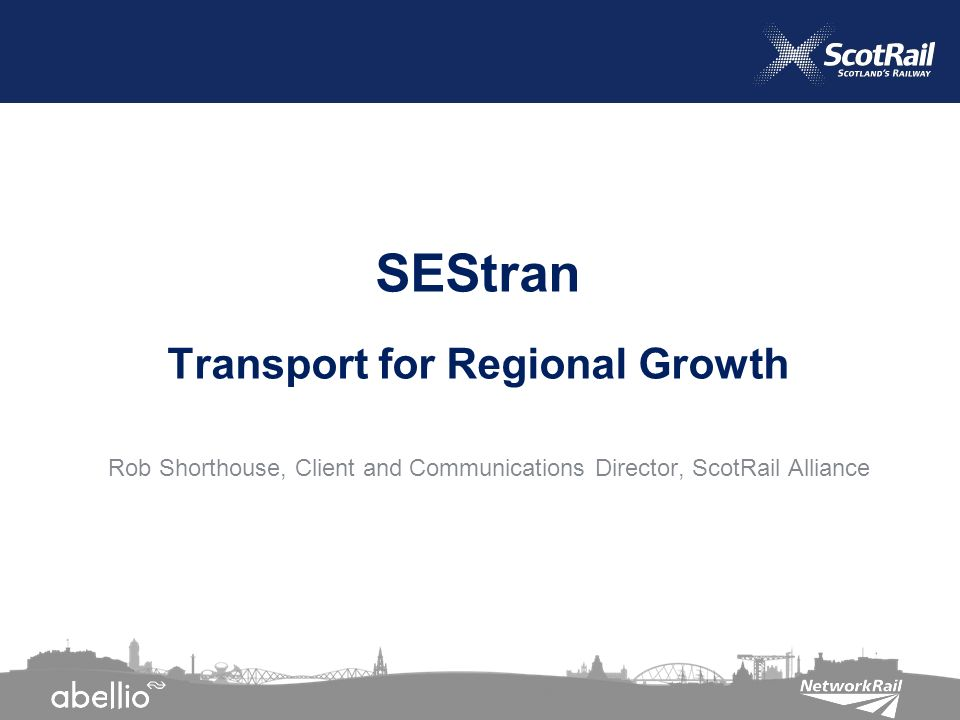 Rob Shorthouse, Client and Communications Director, ScotRail