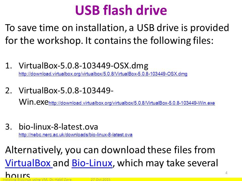 Installing BioLinux on Mac OS X or Windows using a virtual machine