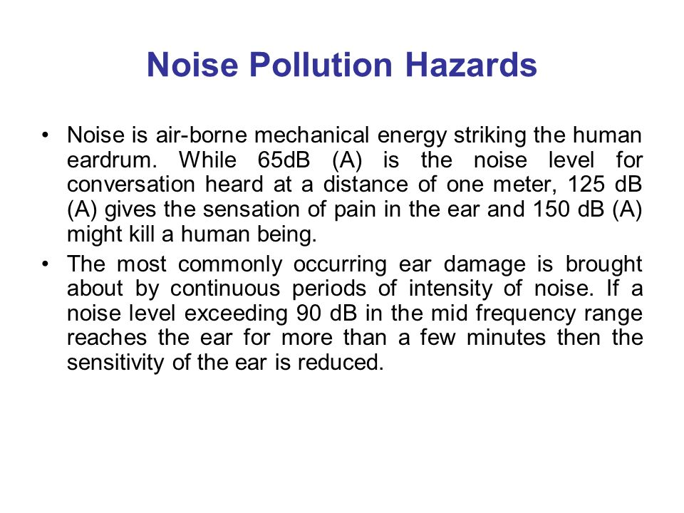 Noise Pollution Lecture - 4  Noise Pollution In the