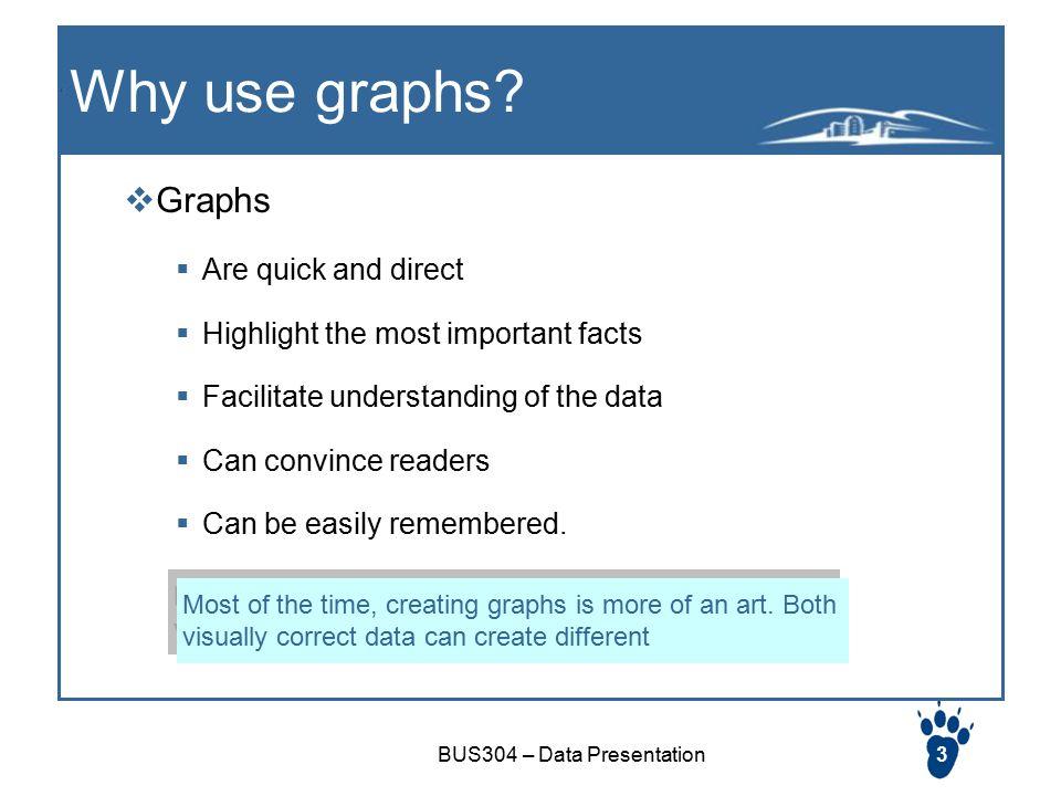 Bus304 Data Presentation1 Graphs Visual Presentation Of Data