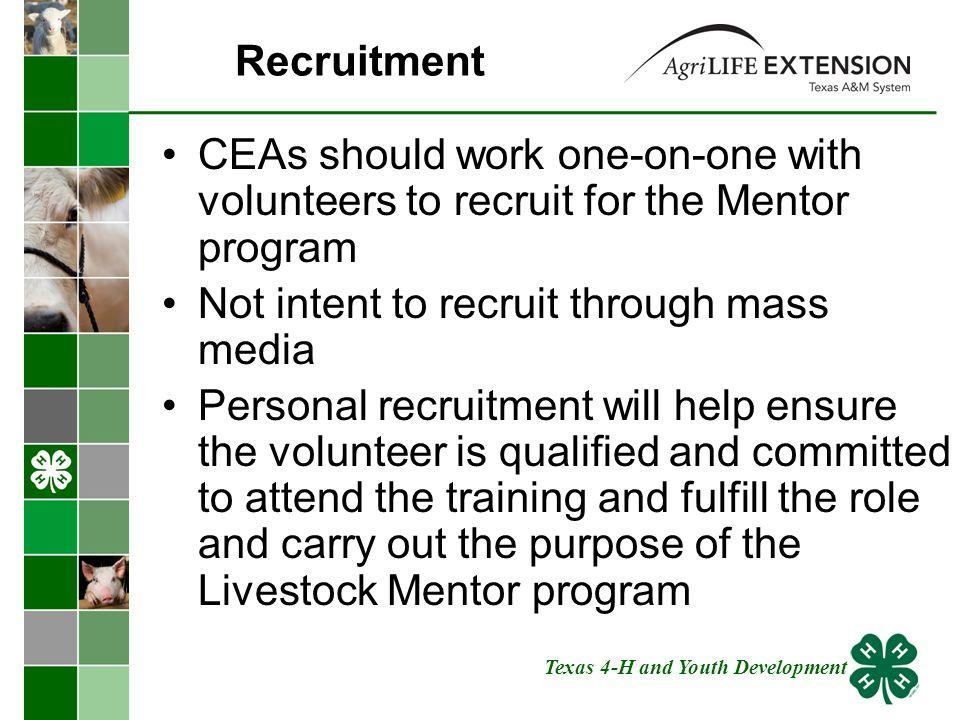 The training program for mass recruitment