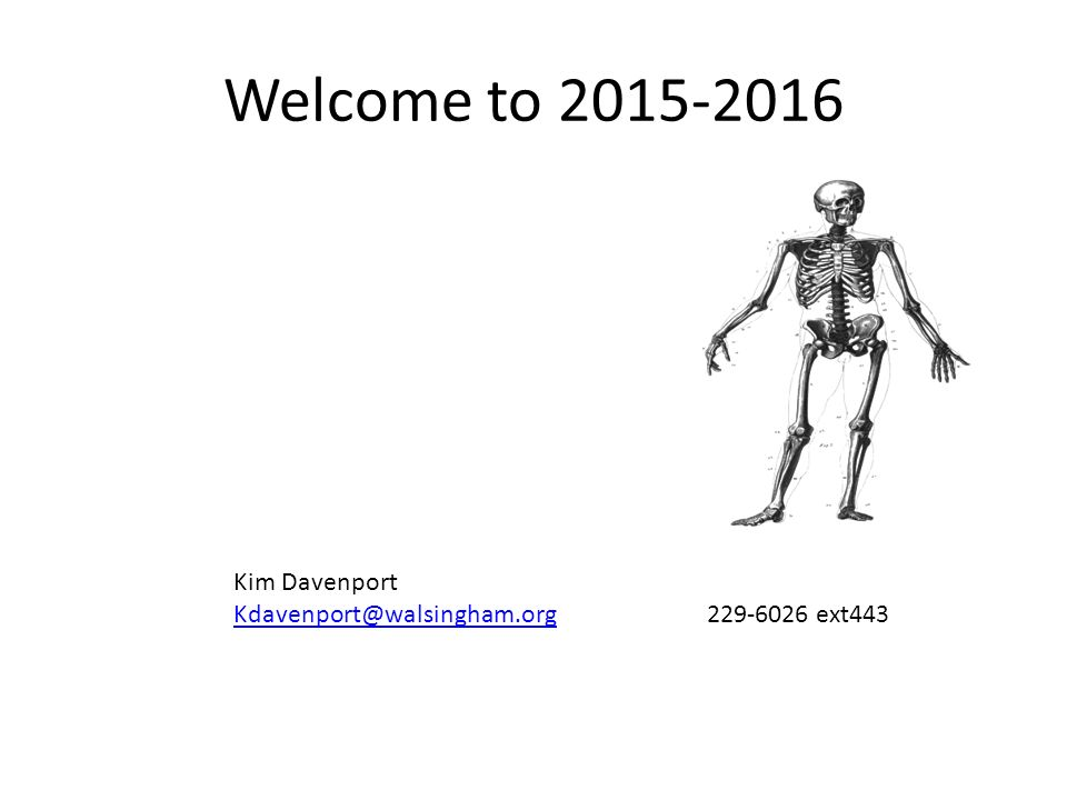Introduction to Human Anatomy and Physiology Overview of class ...