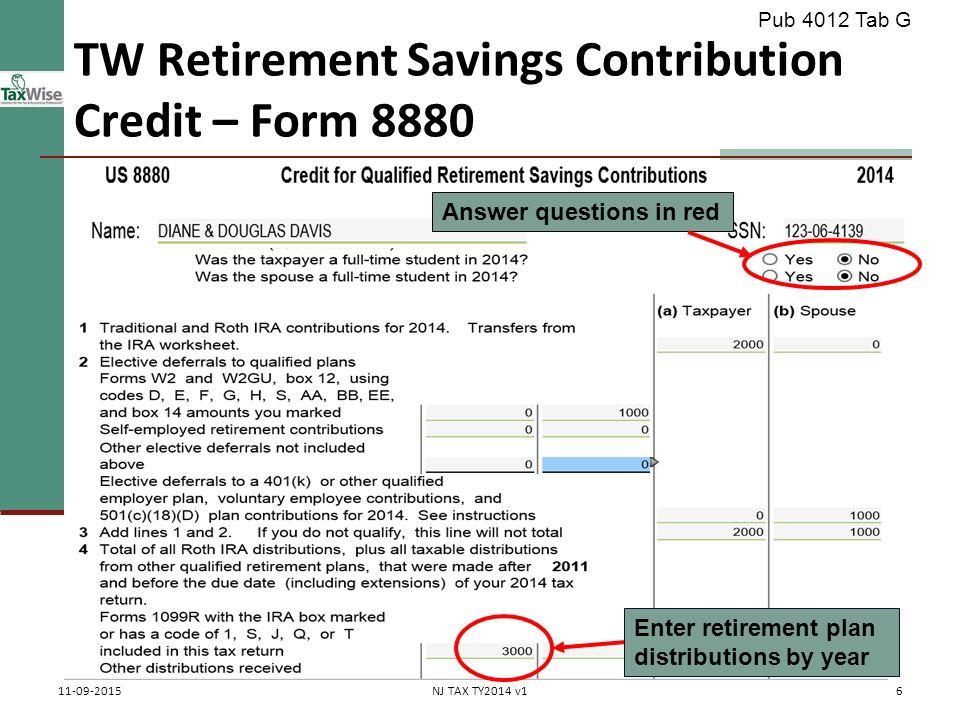 Miscellaneous Credits Pub 4012 Tab G Pub 17 Part 6 Federal 1040