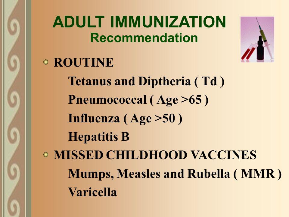 Have Mumps immunization as adult