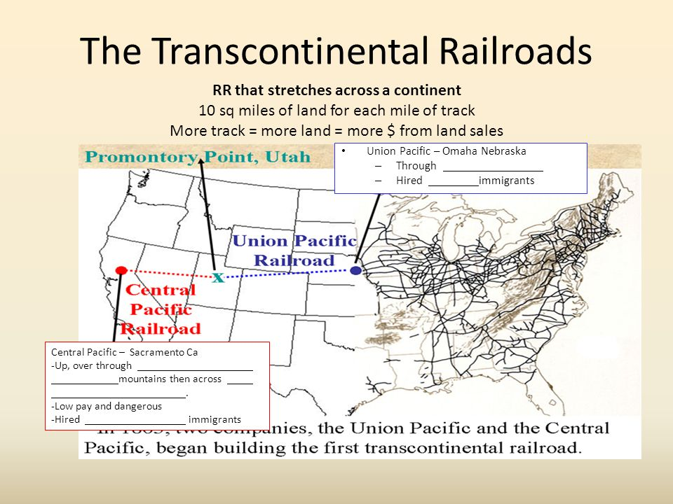 1865 End Of The Civil War 1914 Start Wwi 31 Growth. The Transcontinental Railroads Union Pacific Omaha Nebraska Through Hired Immigrants Rr That Stretches. Worksheet. Transcontinental Railroad Worksheets At Clickcart.co