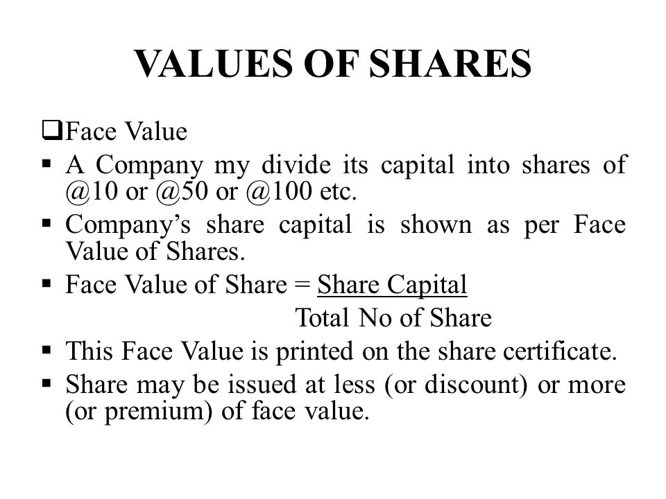 Valuation Of Shares And Debenture Need Or Purpose When Two Or