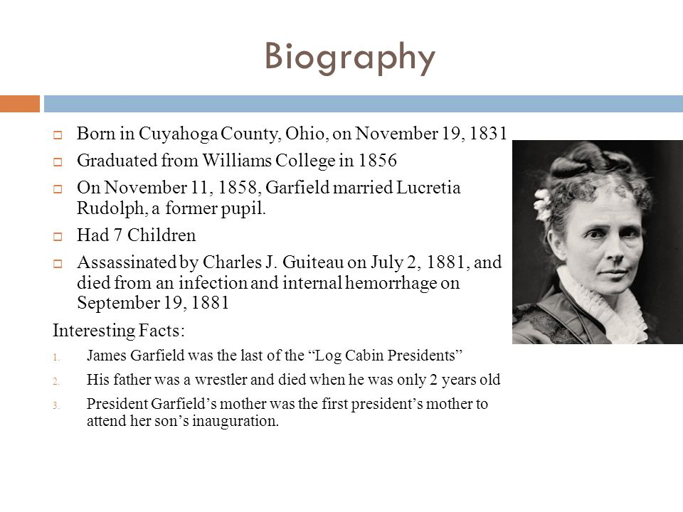 The Life Of James Garfield By Seth Jarvisa11 14 Ppt Download