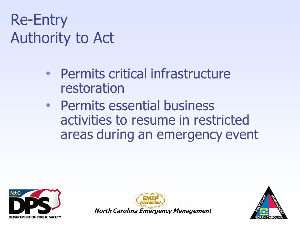 North Carolina Emergency Management North Carolina Emergency ...