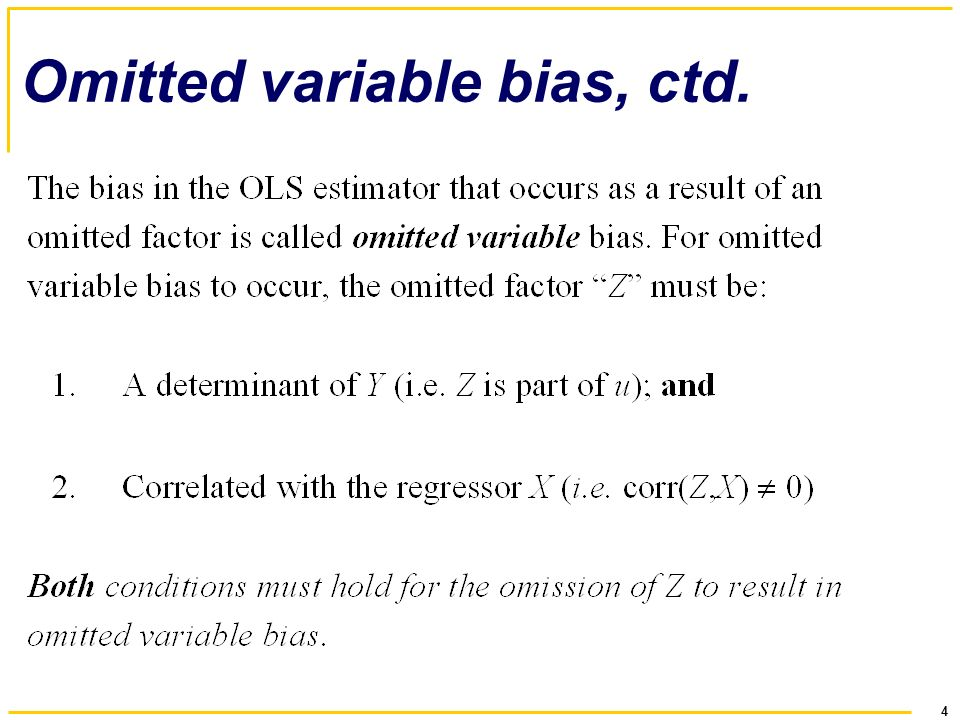 Chapter 6 Introduction To Multiple Regression 2 Outline 1 Omitted