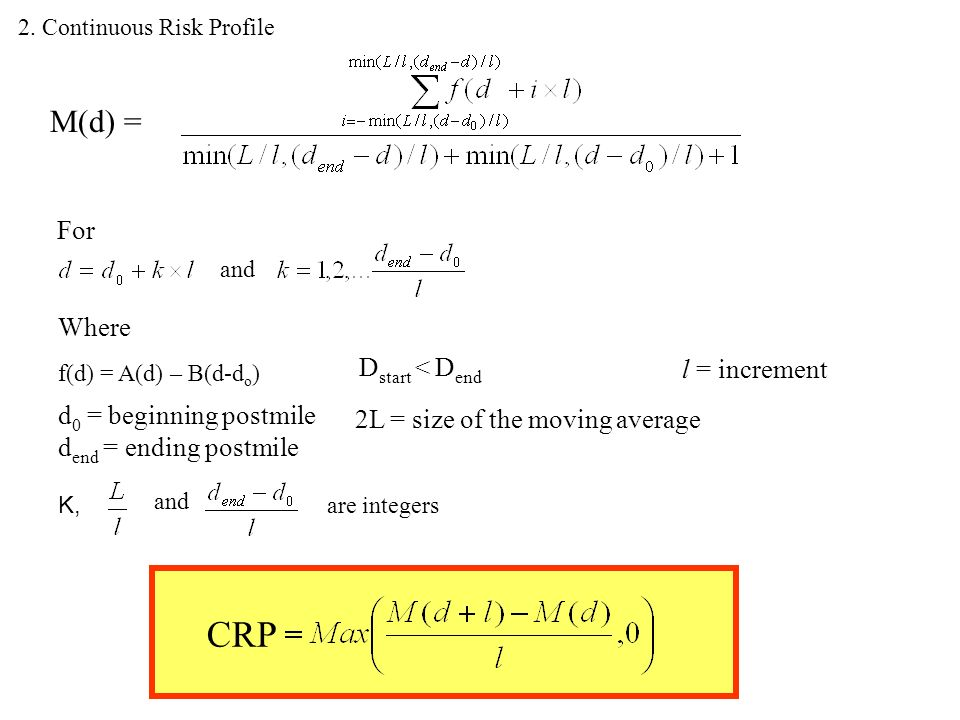 Continuous Risk Profile: A Simple Method for Identifying Sites for ...