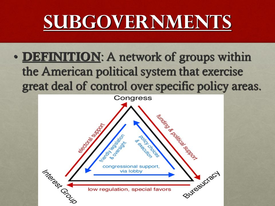 subgovernments