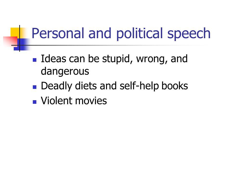 political speech ideas