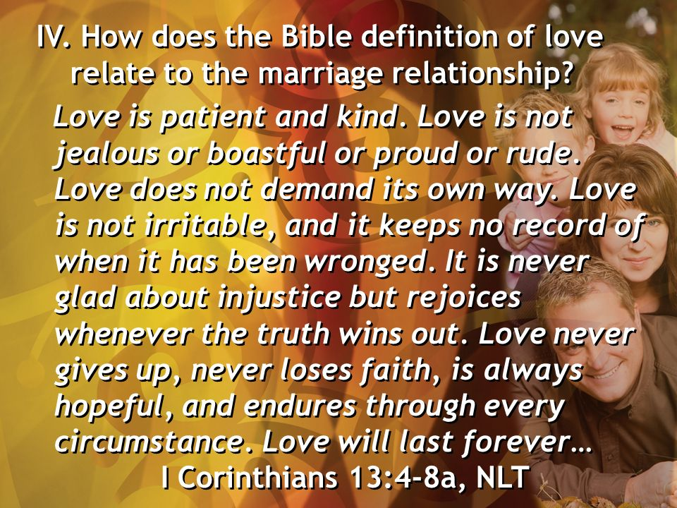 Loving as Christ Loved I  How does the Bible compare the