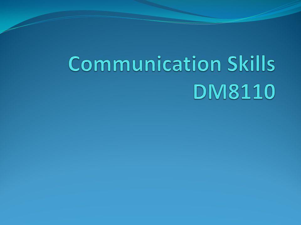communication skills presentation topics