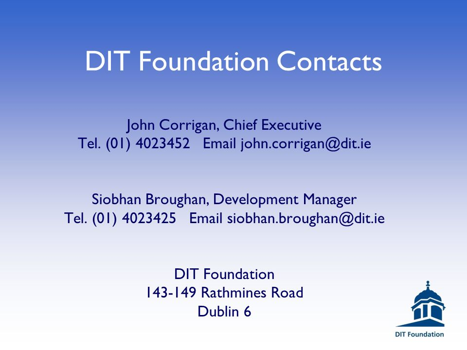 Dublin Institute of Technology Building Ireland's Future. - ppt download