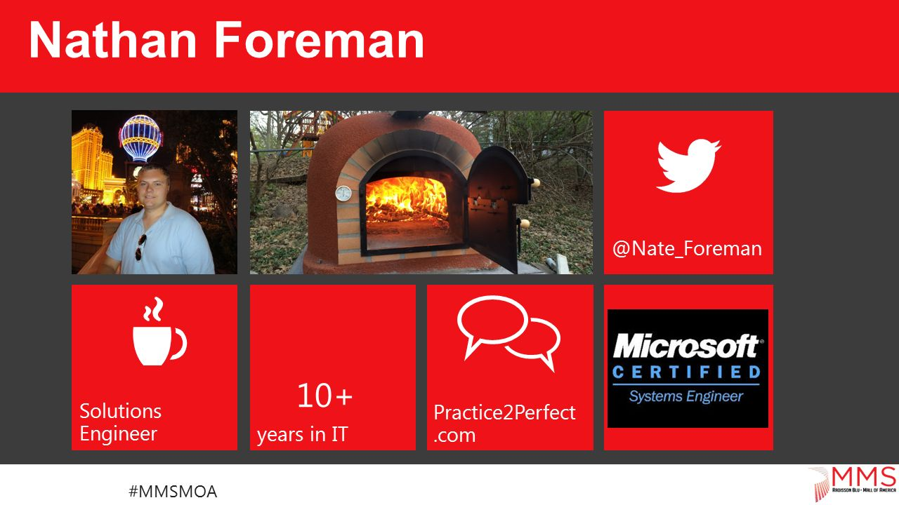 Solutions Engineer Practice2Perfect.com 10+ years in IT Nathan Foreman