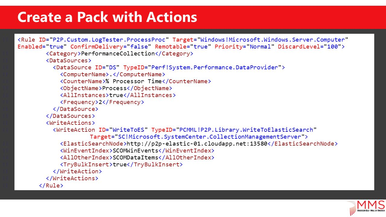 Create a Pack with Actions PerformanceCollection.